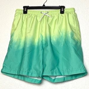 Trunks | Men's Green Gradient Swim Trunks Surf XL